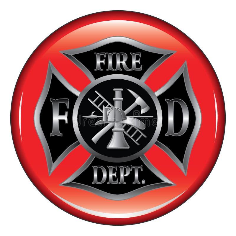 Tecla da cruz maltesa do departamento dos bombeiros ilustração stock