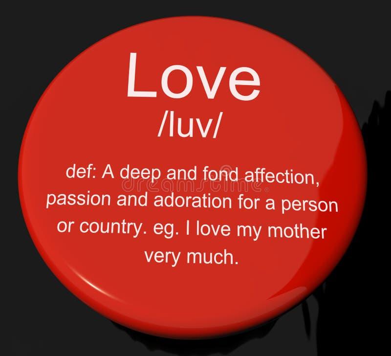 Tecla da definição do amor que mostra a afeição imagens de stock royalty free