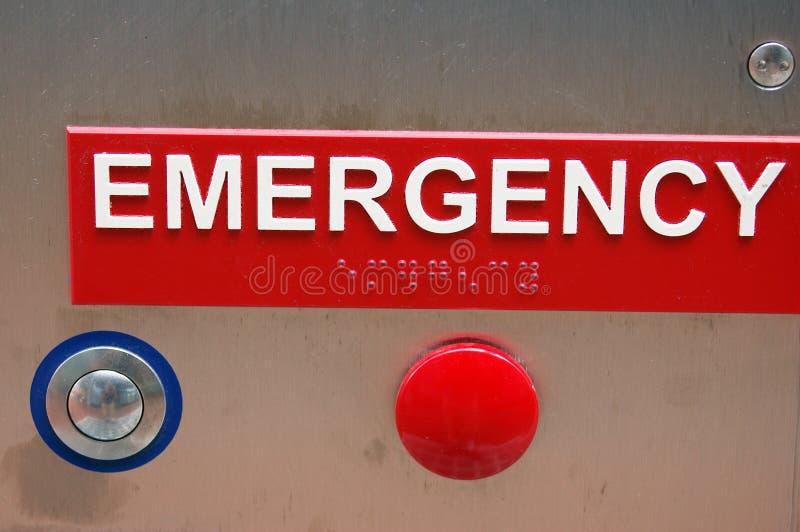 Tecla da emergência foto de stock
