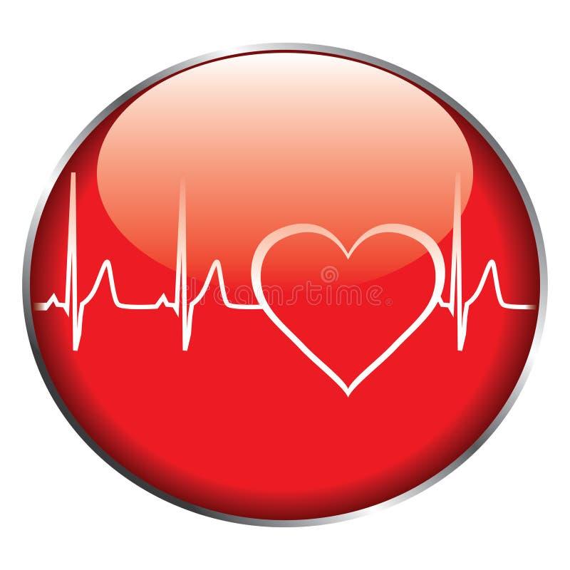 Tecla da frequência cardíaca ilustração royalty free