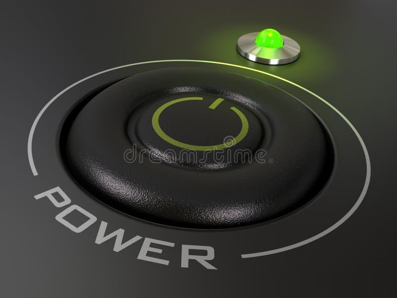 Tecla da potência ilustração do vetor