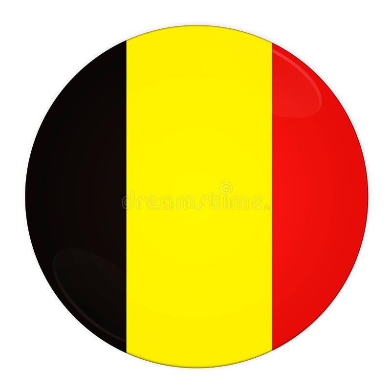 Tecla de Bélgica com bandeira ilustração royalty free