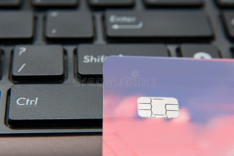 Tecla de control y tarjeta fotografía de archivo libre de regalías