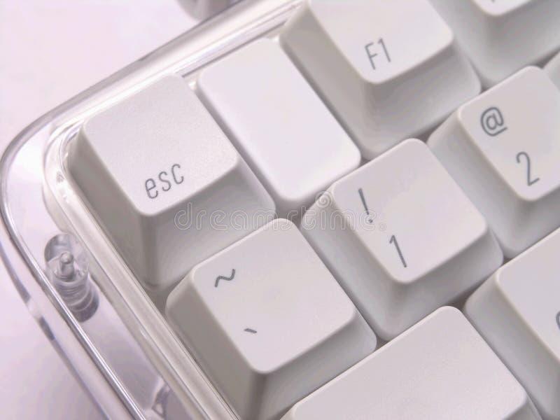 Tecla de escape en el teclado fotos de archivo