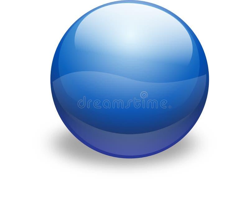 Tecla de vidro azul ilustração do vetor