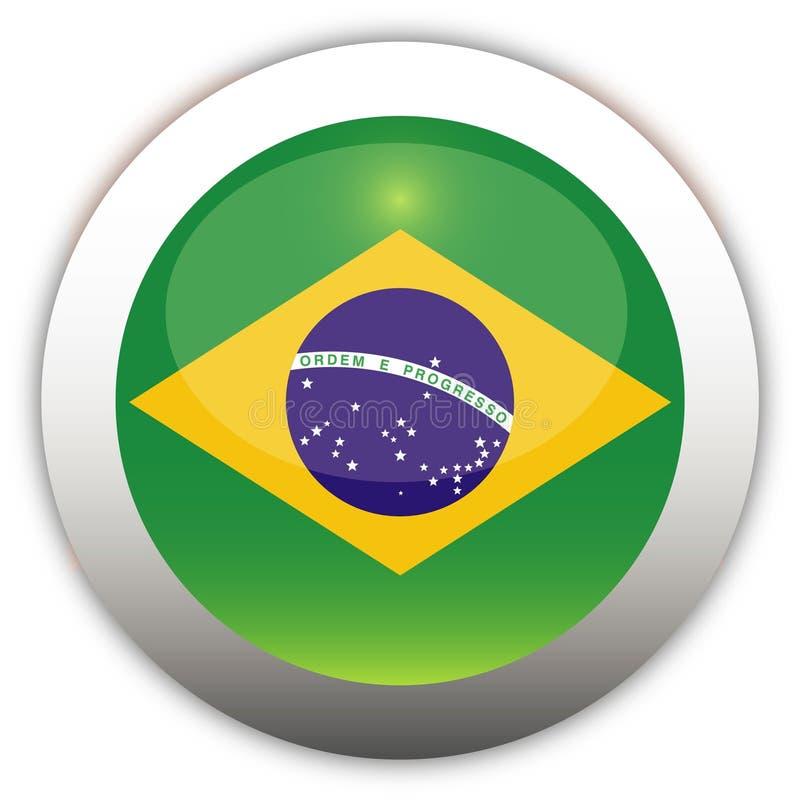 Tecla do Aqua da bandeira de Brasil ilustração do vetor