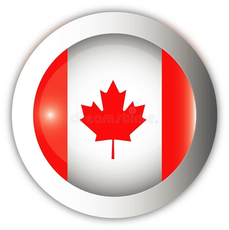 Tecla do Aqua da bandeira de Canadá ilustração stock