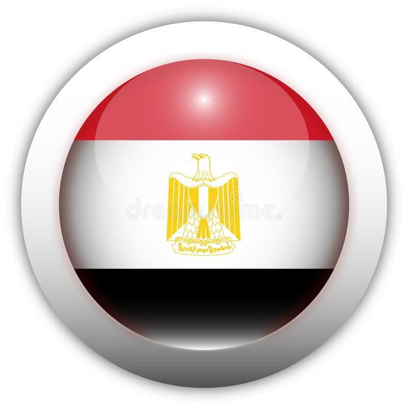 Tecla do Aqua da bandeira de Egipto ilustração do vetor