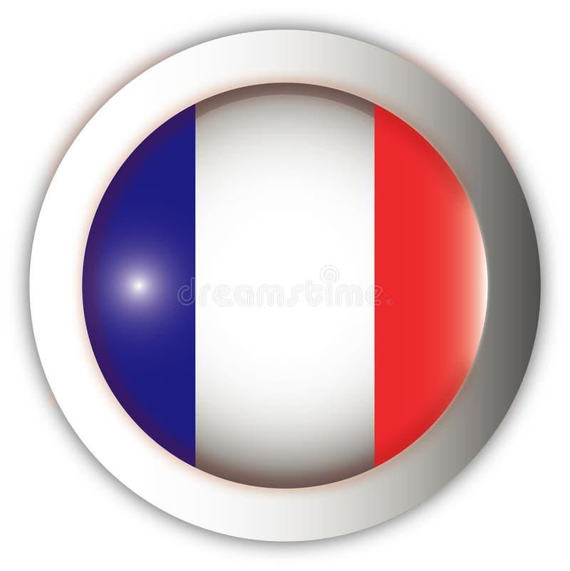 Tecla do Aqua da bandeira de France ilustração royalty free