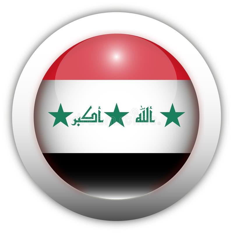 Tecla do Aqua da bandeira de Iraque ilustração royalty free