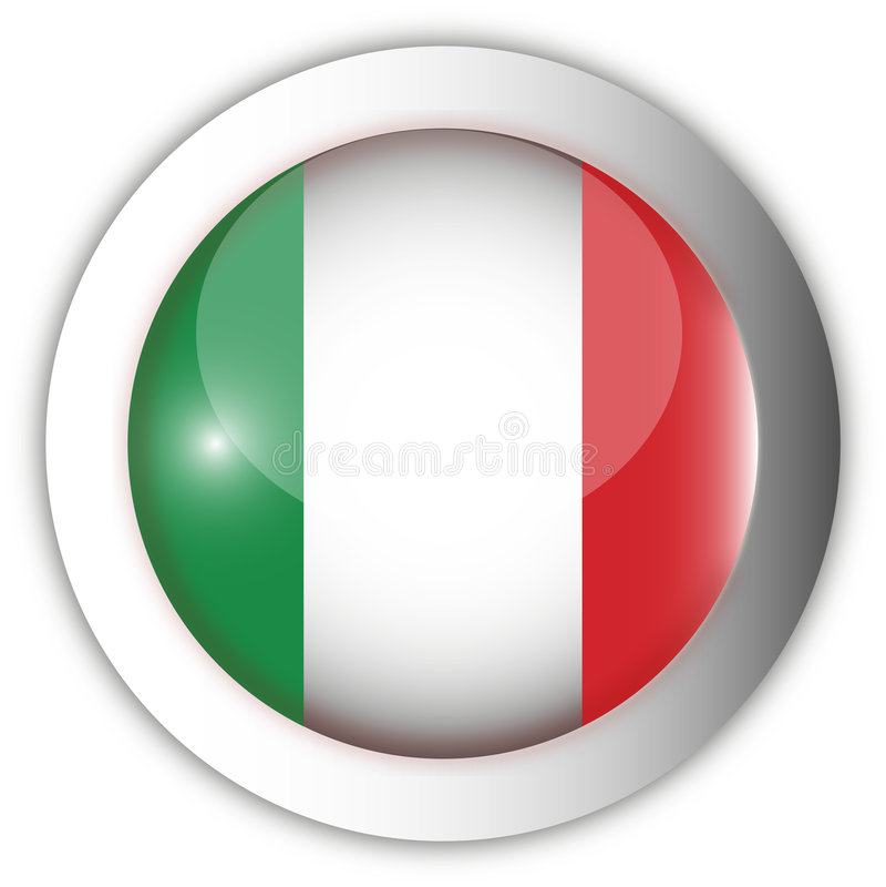 Tecla do Aqua da bandeira de Italy ilustração royalty free