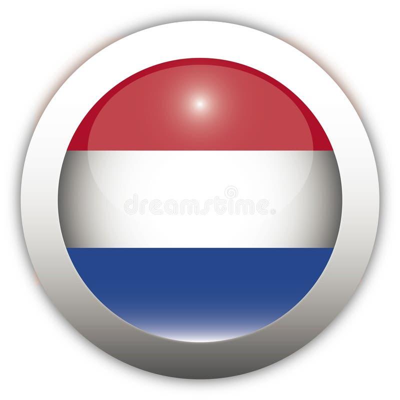 Tecla do Aqua da bandeira de Netherland ilustração royalty free
