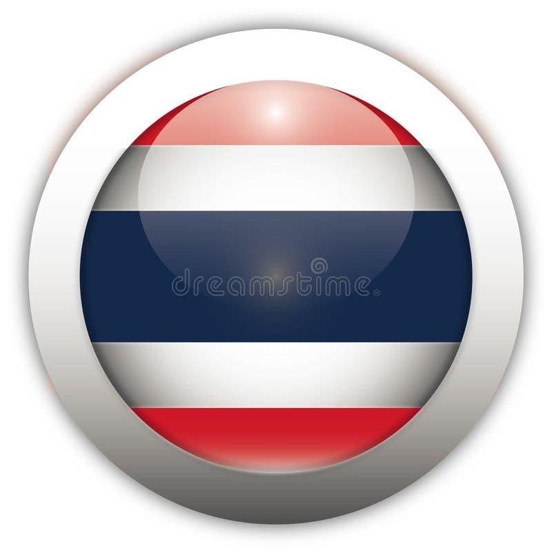 Tecla do Aqua da bandeira de Tailândia ilustração royalty free