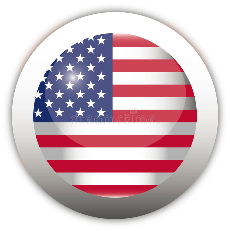 Tecla do Aqua da bandeira dos EUA ilustração stock