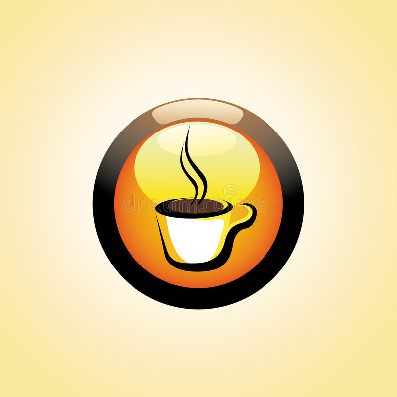Tecla do copo de café