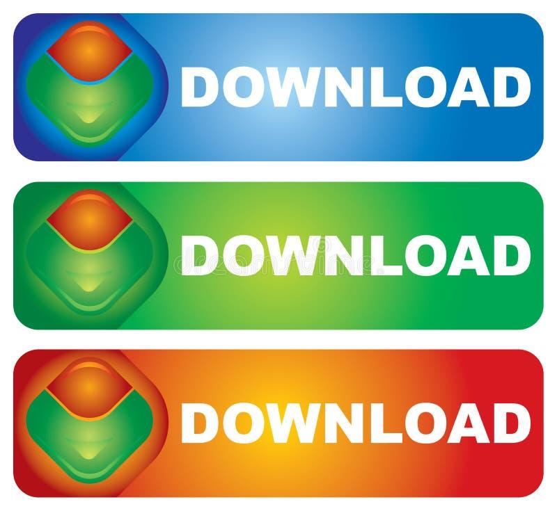 Tecla do Download ilustração royalty free