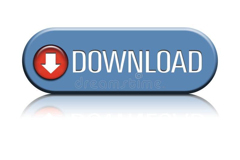 Tecla do Download ilustração stock