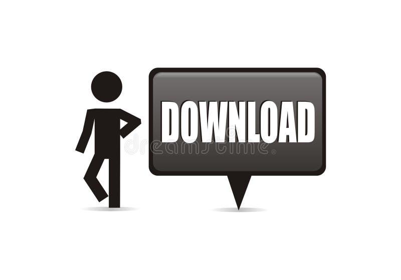 Tecla do download do ícone dos povos do homem ilustração royalty free