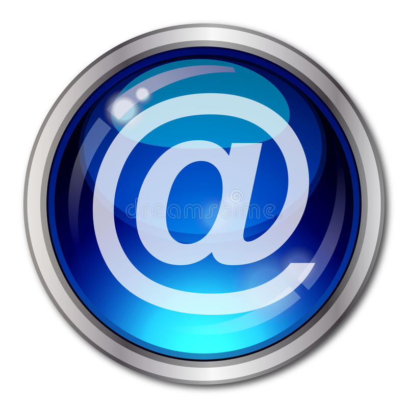 Tecla do email ilustração stock