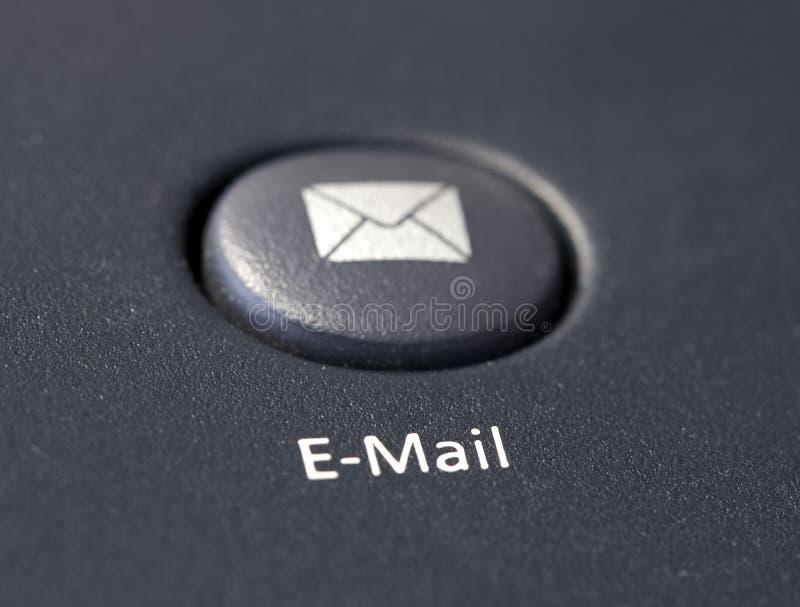 Tecla do email no teclado fotografia de stock