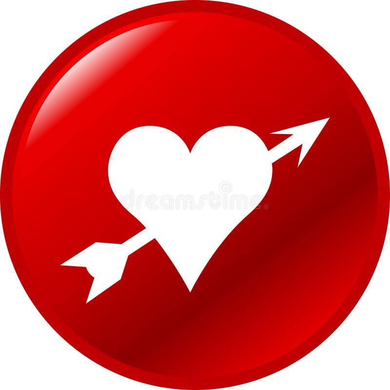 Tecla do esmagamento do amor ilustração do vetor
