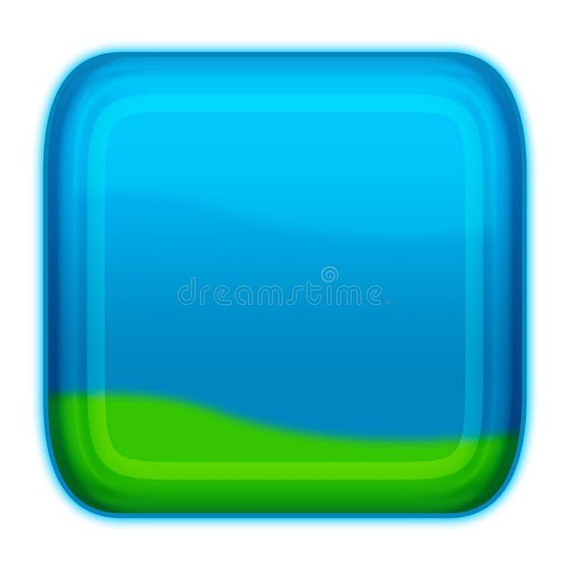 Tecla do estilo do Aqua - azuis ilustração do vetor