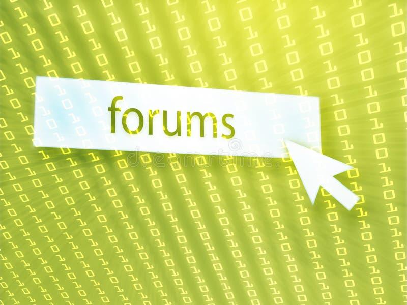 Tecla do fórum ilustração do vetor