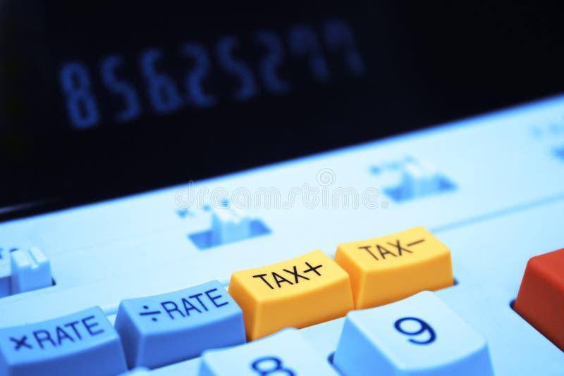 Tecla do imposto da calculadora fotos de stock