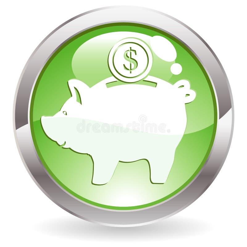 Tecla do lustro com banco piggy ilustração royalty free