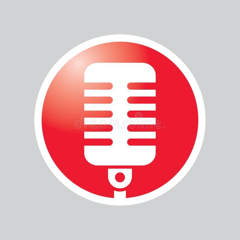 Tecla do microfone ilustração do vetor