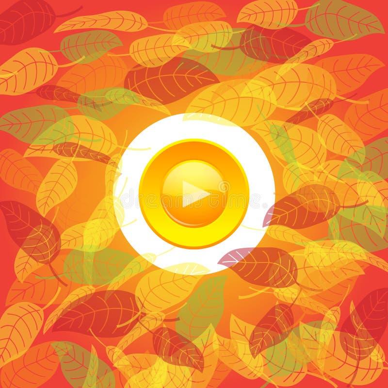 Tecla do outono ilustração stock