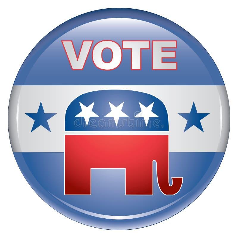 Tecla do republicano do voto ilustração stock