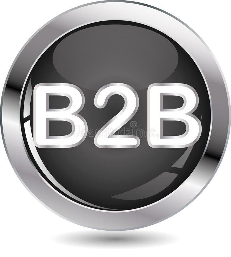 Tecla do sinal de B2B ilustração royalty free