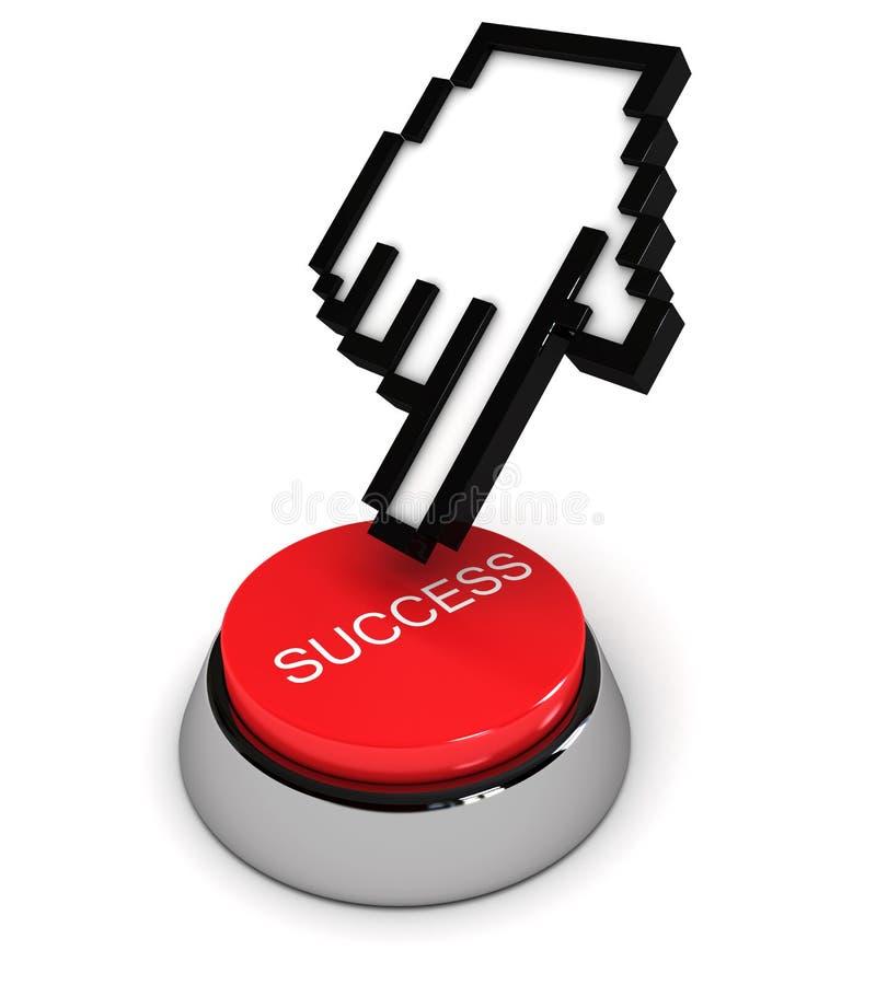 Tecla do sucesso ilustração stock
