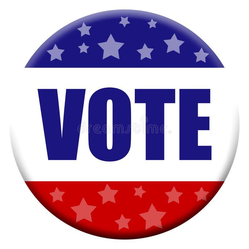 Tecla do voto ilustração royalty free