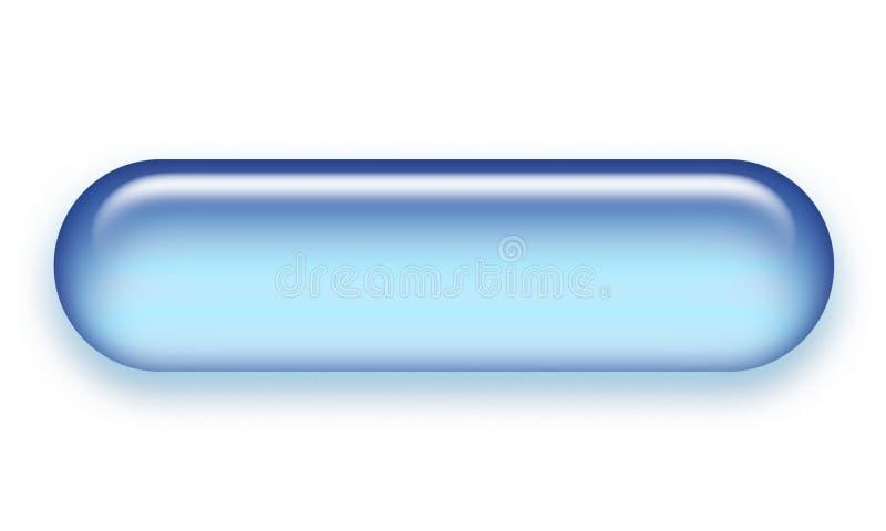 Tecla do Web do Aqua ilustração stock
