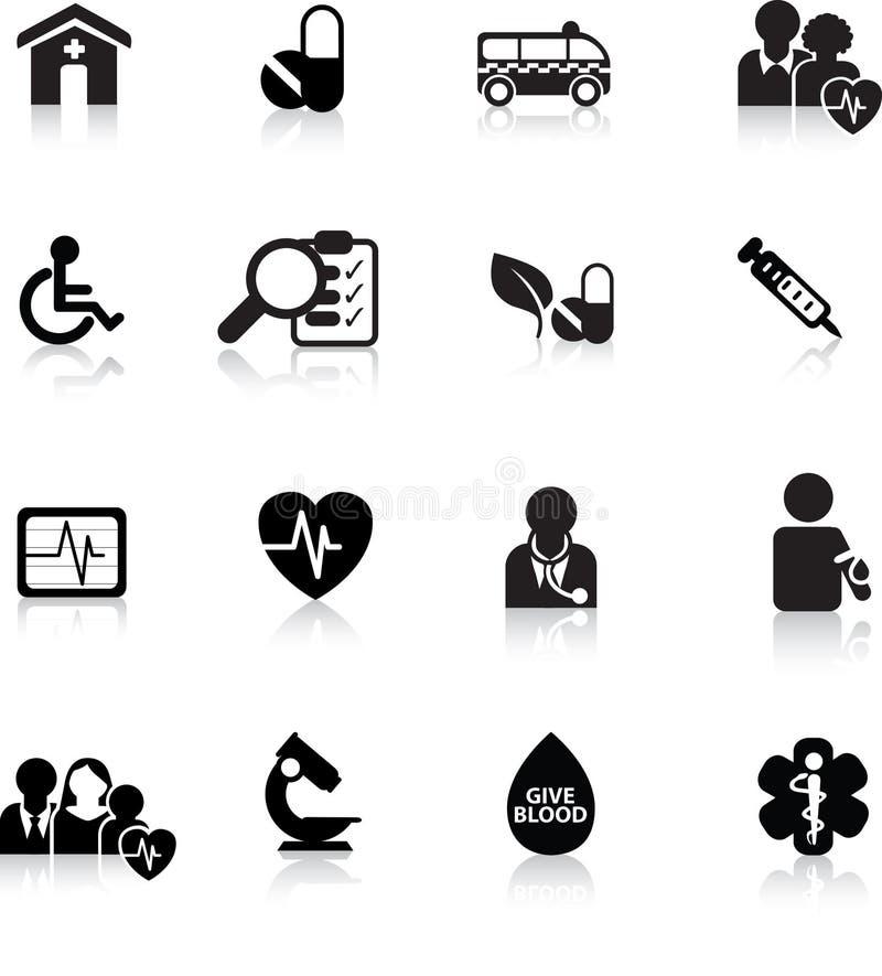 Tecla do Web médica ilustração royalty free