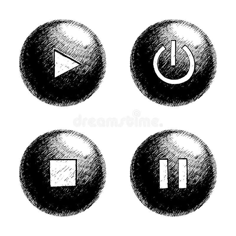 Tecla esboçado da esfera ilustração royalty free
