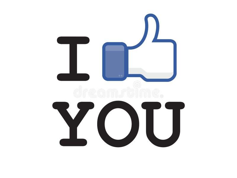 A tecla gosta do facebook fotos de stock