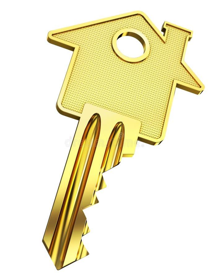Tecla HOME - concepto de las propiedades inmobiliarias ilustración del vector