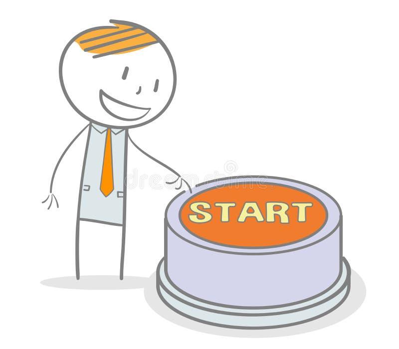 Tecla 'Iniciar Cópias' ilustração stock