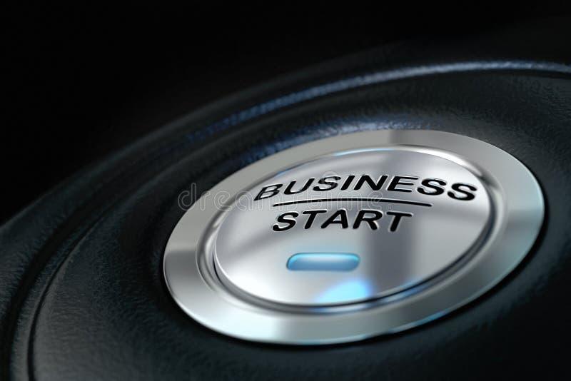 Tecla 'Iniciar Cópias' do negócio ilustração do vetor