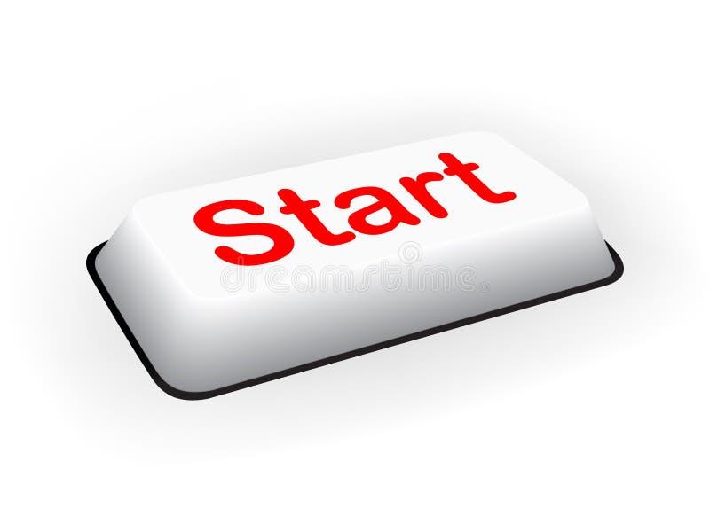 Tecla 'Iniciar Cópias' do teclado ilustração do vetor
