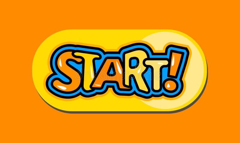 Tecla 'Iniciar Cópias' dos desenhos animados ilustração stock