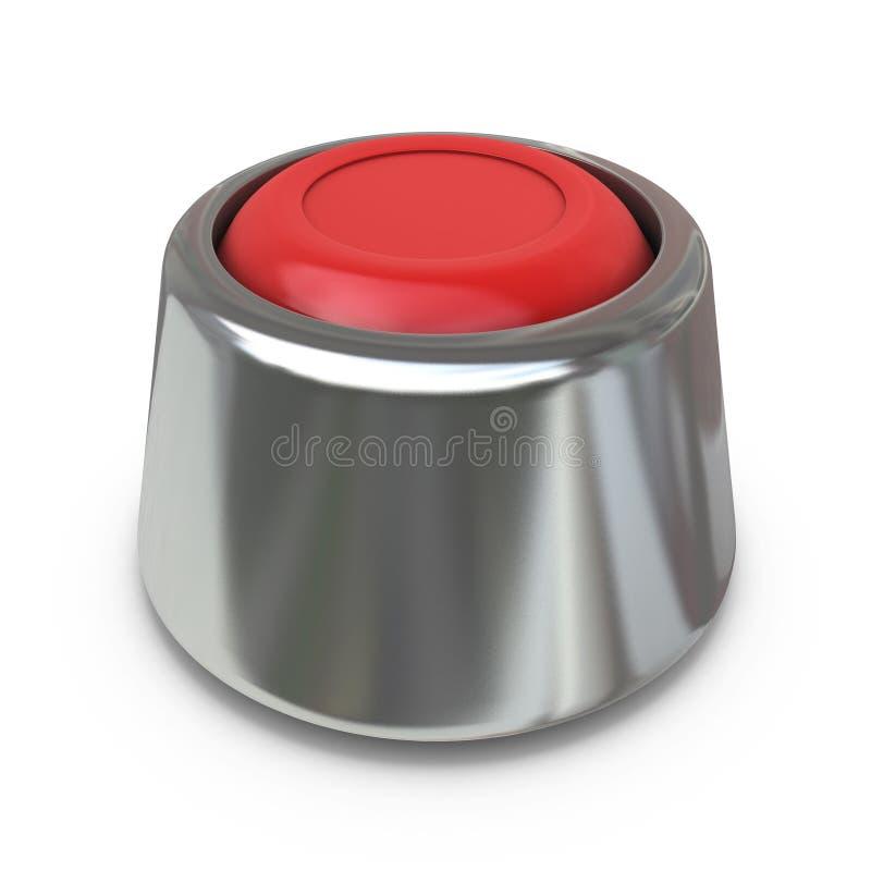 Tecla 'Iniciar Cópias' vermelha ilustração stock
