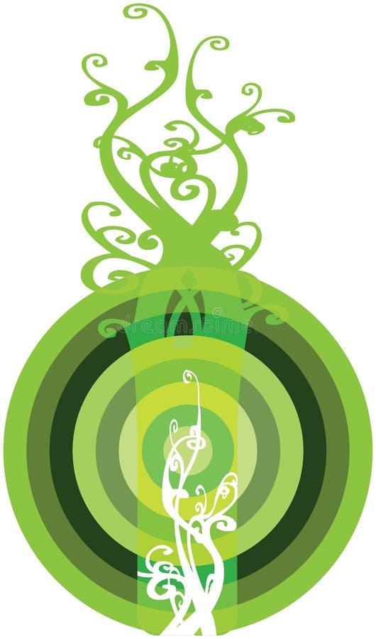 Tecla interessante Bullzeye de Eco ilustração do vetor