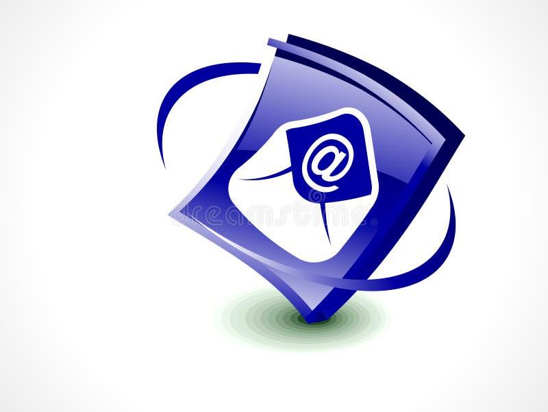 Tecla lustrosa abstrata do ícone do correio ilustração royalty free