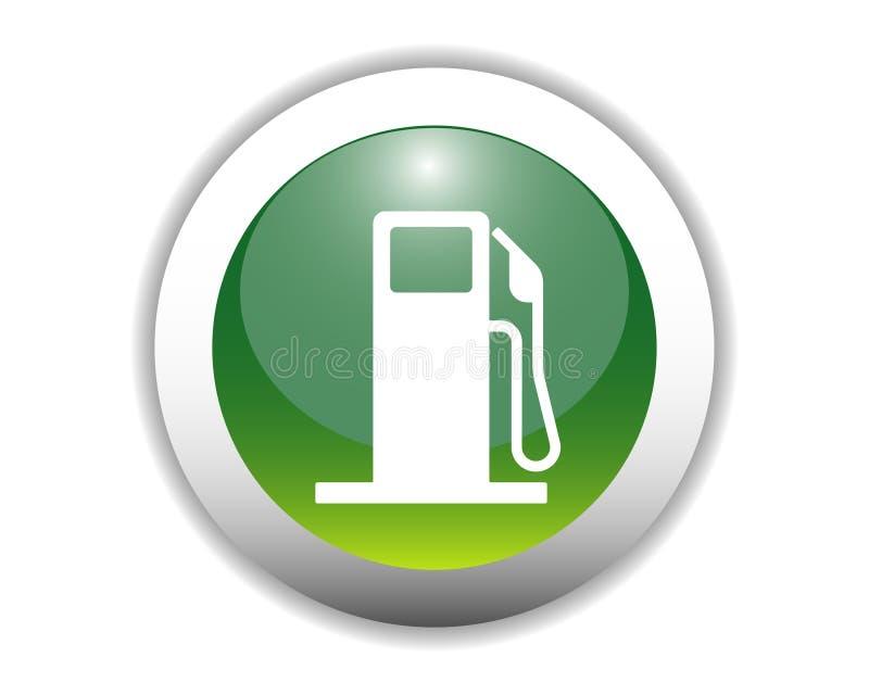 Tecla lustrosa do ícone do combustível