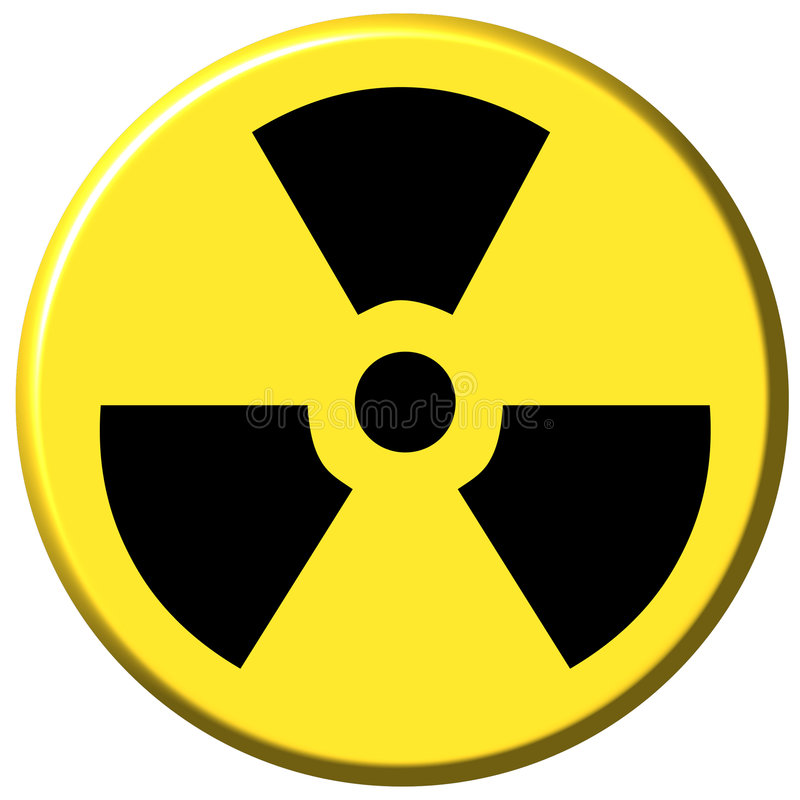 Tecla nuclear ilustração stock