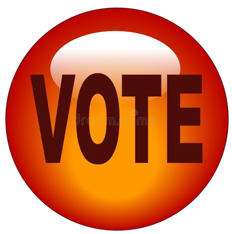Tecla ou ícone do voto ilustração royalty free